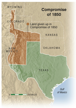 Map Of Compromise Of 1850